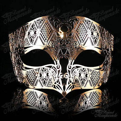 Luxury Light Metal Venetian Masquerade Mask for Men M7156 [Gold] (Venetian Masquerade Masks For Men)