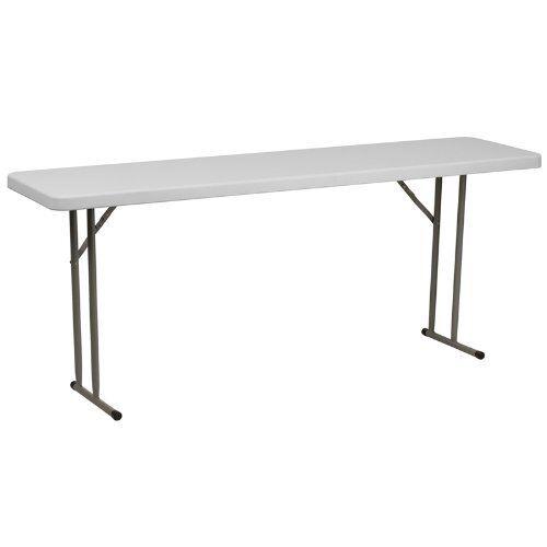 White Folding Table FLSRB1872GG