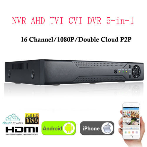 XVR 4CH Channel CCTV Digital Video Recorder 1080P Hybrid NVR AHD TVI CVI DVR