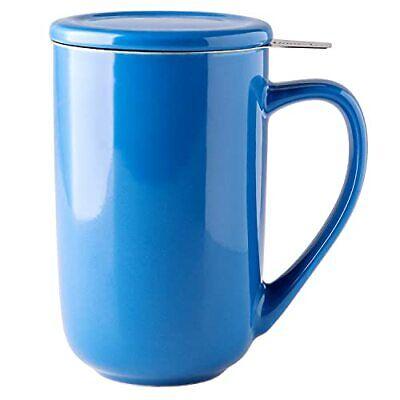 AmorArc Ceramic Tea Mug16Oz Tea Cup with Infuser and Lid Tea Strainer Cups wi...