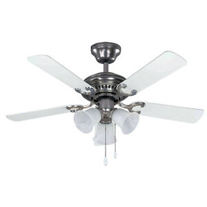 Brass coloured ceiling fan with 3 lights