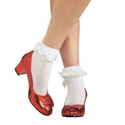 COSTUME SHOES - ADULT DOROTHY RUBY SLIPPERS (Dorothy Costume Shoes)