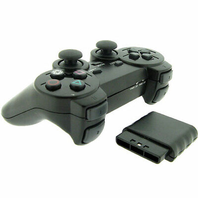 New Wireless Black Replacement Game Controller Pad for Sony Playstation 2 PS2 Controllers & Attachments