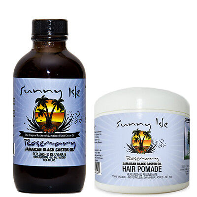 Rosemary Jamaican Black Castor Oil 4 Oz and Hair Pomade (Jamaican Black Castor Oil And Rosemary Oil)
