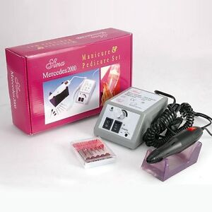 Electric Nail Art Drill File Manicure Pedicure Polish Machine 6Bits Acrylic Tool