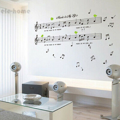 Music Note Removable Decal Home Room Decor Art Wall Sticker Wallpaper DIY E-HOME - Music Note Decorations