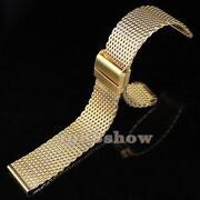 Gold Mesh Watch Band