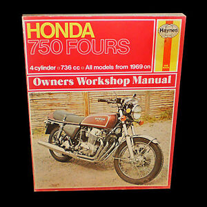 HONDA 750 FOURS 4 cylinder 736 cc WORKSHOP MANUAL from 1969 on