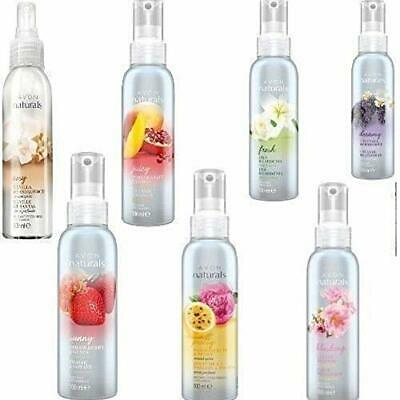 5 x Avon Naturals Scented Spritz Room Linen Home Spray 100ml - Mixed Fragrances