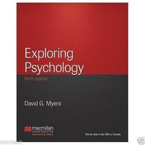 psychology 9th edition david myer Social psychology by david g myers 9th edition a few pages with some  highlighting but otherwise excellent condition and hardly used available for  pickup in.
