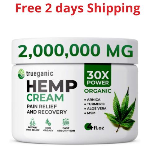 Premium Hemp Oil Cream 1,500,000MG Anti Inflammation Back Arthritis Pain Relief