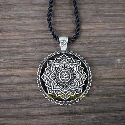 Mandala Flower Yoga Chakra Pendant Necklace