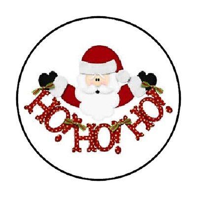 48 SANTA HOHOHO CHRISTMAS ENVELOPE SEALS LABELS STICKERS 1.2