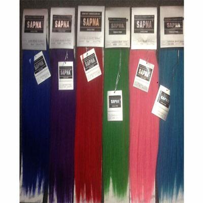 Sapna European 100% Human Hair Blend weave weft Full Head Hair Extension 18inch (Human Hair 18 Inch Weave)