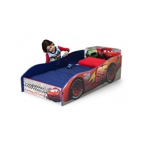 Toddler Race Car Bed Lightning Mcqueen Kids Bedroom Disney Cars Furniture Wooden