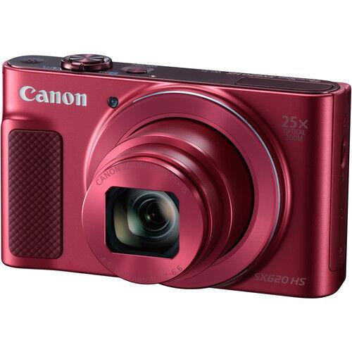 Canon PowerShot SX620 HS 20.2-Megapixel Digital Camera Red 1073C001