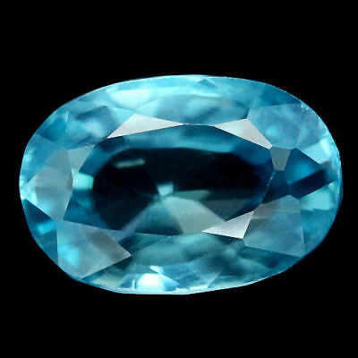 TOP ZIRCONE : 3,60 Ct Natürlicher Blau Zirkon aus Kambodscha
