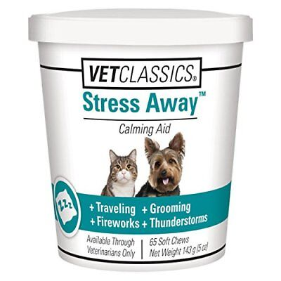 NEW Stress Away for Dogs Cats 65 Soft Chews FREE SHIPPING