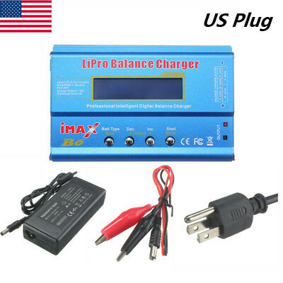 Imax B6 Lcd Screen Digital Rc Lipo Nimh Battery Balance Charger   Ac Adapter Us