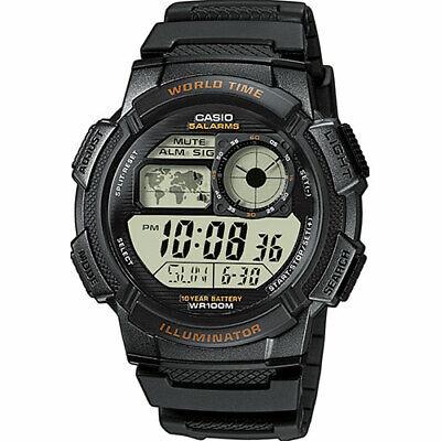 Casio AE-1000W-1A World Time 5-Daily Alarms Stopwatch 100M Sport Watch