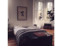 Selfridges kingsize cream leather bed frame