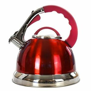 Classic Whistling Kettle 3.5 Litre Stainless Steel Gas Induction Hob Tea Coffee
