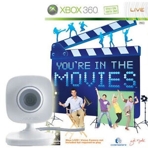 XBOX 360 YOUR IN THE MOVIES WITH CAMERA