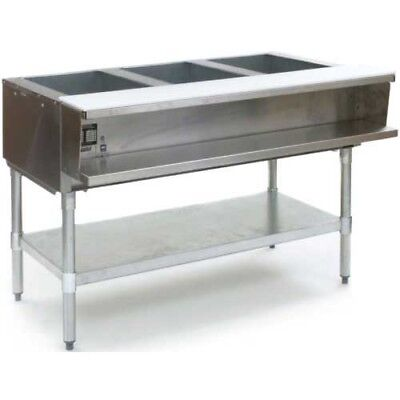 Eagle Group Awt3-ng 48 Inch 3-well Water Bath Gas Steam Table