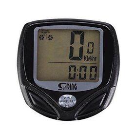 BICYCLE CYCLE BIKE LCD WIRED WATERPROOF COMPUTER SPEEDOMETER SPEEDO ODOMETER