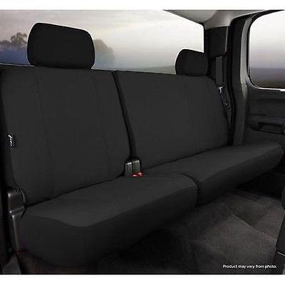 FIA SP82-94 Black Rear Seat COVER Split 60/40 W/Adj Head Fits 14-15 Silverado