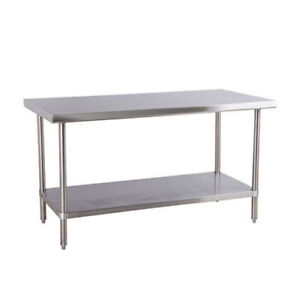 Stainless Steel Worktable (30 x 60 inches)