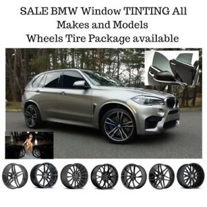 OPEN LATE BMW X5 X6 X3 Window tinting Wheels Tires Experience