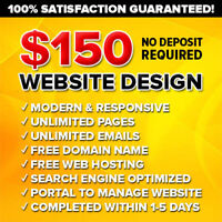 $150 ❌EXPERT WEB DESIGNERS ❌PAY ONLY after 100% SATISFIED