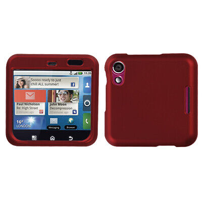 For MB511 Flipout Titanium Solid Red Hard Snap On Phone Protector Cover Case