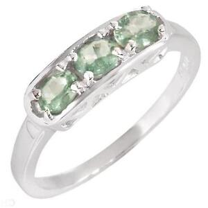 CHARMING NEW GREEN GENUINE SAPPHIRE SIZE 7 RING RETAIL $129.00