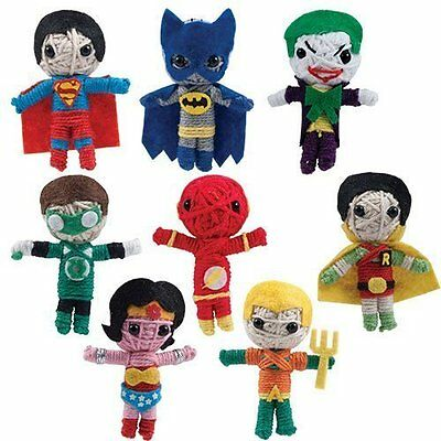 LOT OF 48 DC COMICS STRING DOLLS WONDER WOMAN SUPERMAN BATMAN JOKER ETC