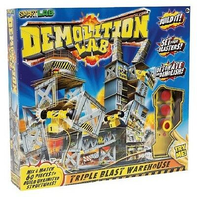 Demolition Lab Triple Blast Warehouse from SmartLab Kid's Building Toy Set - Demolition Lab