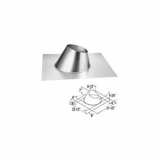 Duravent 5x8 Adjustable Roof Flashing 0/12 - 6/12