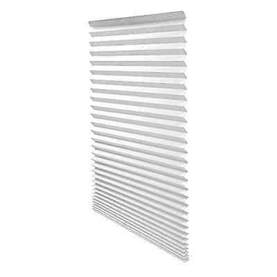 Window Blinds Pleated Original Pleated White Paper Shade 36 x 72 Inch  6 Pack