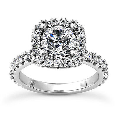 2 CT ROUND DIAMOND ENGAGEMENT RING ENHANCED SI D 14k WHITE GOLD