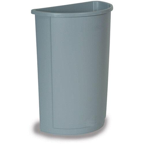 Rubbermaid FG352073BLUE Untouchable Container Half Round, 21 Gallon Cap., Blue