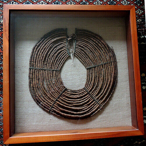 an old antique traditional framed african necklace pokot kenya east africa #15