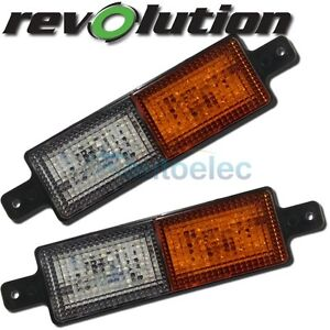 LED FRONT INDICATOR PARK CLEAR AMBER LIGHT LAMP ARB TJM BULLBAR PAIR ,2x 5290343