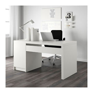 Brand new, never used MALM IKEA desk with filing cabinet