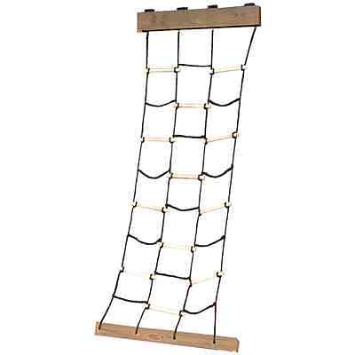 New Climbing Ladder Tempt Treehouse Swing Set Cargo Net Outside Child Play House