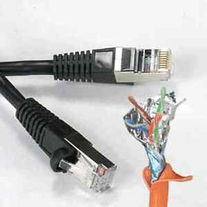 CAT5e Shielded Ethernet Patch Cable 1 2 3FT 4FT 5FT 6FT 7FT 10FT 15FT 20FT 25FT