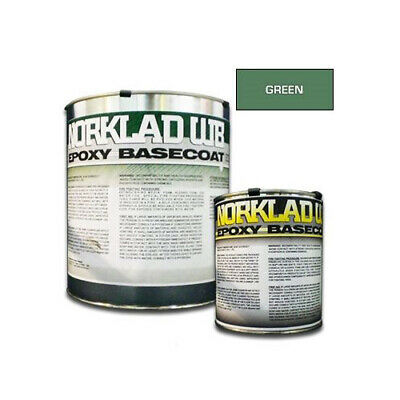 Norklad Wb - Waterborne Epoxy Floor Paint Base Coat Green 1 Gallon Kit