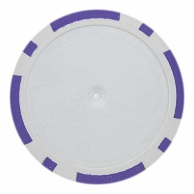 - 8 Stripe Non-Denominated 14g Poker Chips, Purple Clay Composite, 50-pack