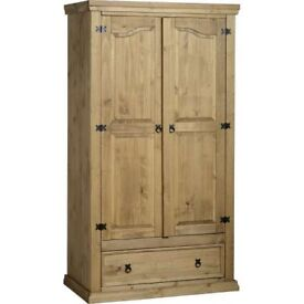 Corona solid pine wardrobe. Still packed in the flat pack box