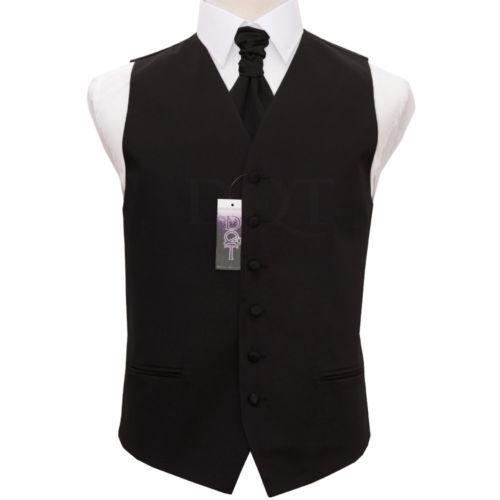 DQT Plain Satin Men's Waistcoat